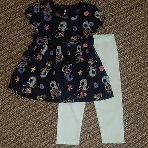 Gap matching capri and shirt set